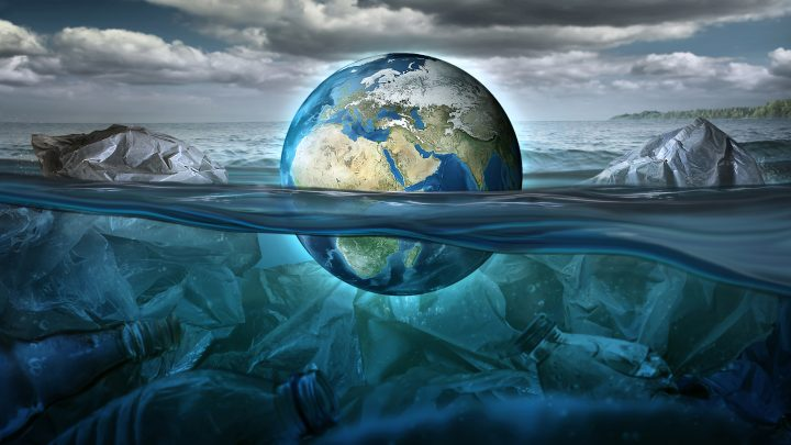 earth-floats-sea-full-garbage-pollution-environment-concept-earth-image-provided-by-nasa